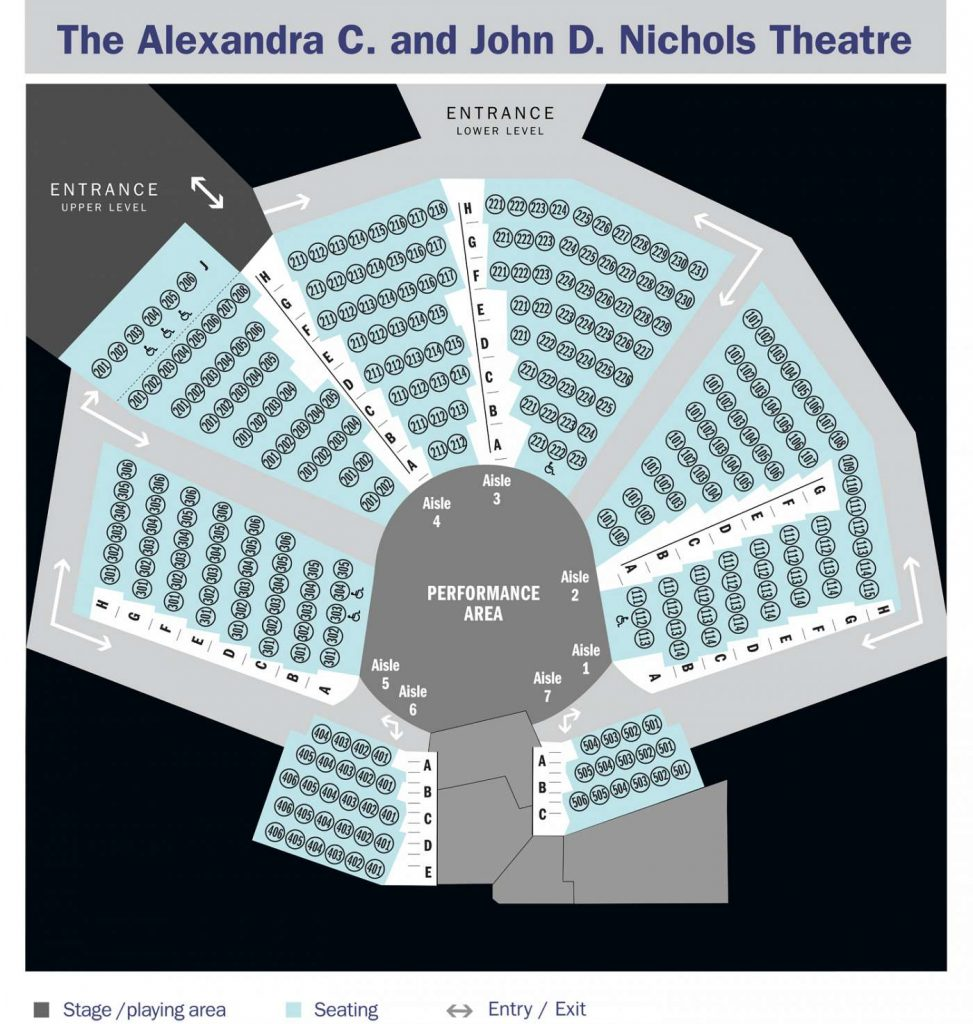 Updated Nichols Theatre Seat Map for INTO THE WOODS.