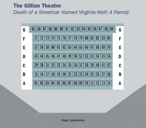 Seating Map for Death of a Streetcar Named Virginia Woolf: A Parody image