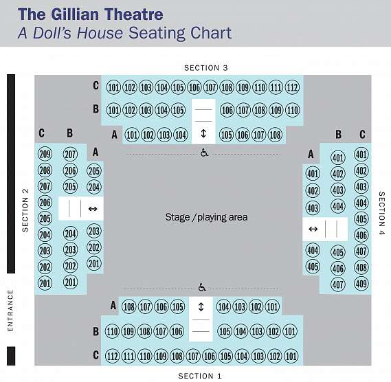 Seating Map for A Doll's House